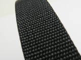 【厂家直销】PP丙纶织带 包边带 黑色2.5CM织带 现货批发
