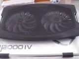 厂家直销4代双风扇笔记本散热器 超大2风扇笔记本散热座