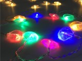 LED贝壳造型电池盒铜线灯串节日装饰串灯