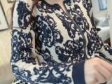 新款春秋新款韩版时尚个性圆领针织衫女小外套 女毛衣开衫 青花瓷