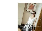 2014新款女韩版短款修身百搭U型领宽带背心无袖上衣+蓬蓬裙套装