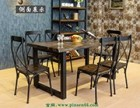 美式铁艺餐桌椅 深圳餐饮家具批发厂家 餐饮家具定制