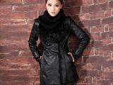 四季青新款冬棉袄女韩版学院风羊羔毛棉服pu皮衣冬装外套一件代发
