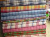 纯棉斜纹单子布 色织床单布 斜纹格子布提花 纯棉床单布 宽2.3