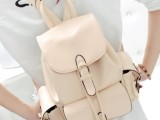 2014新款三兜双肩时尚休闲纯色高仿奢侈品大牌包包女包夏款背包