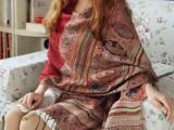 瑞格丽特秋冬超大民族提花流苏加厚保暖长围巾女士夏空调披肩两用