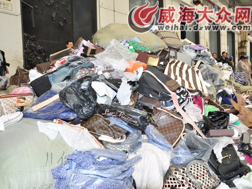 上海库存服装箱包焚烧处理,海关监督服装销毁处理