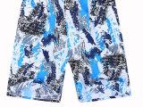 中年男士中裤 纯棉休闲短裤 中老年男装五分裤夏季松紧透气沙滩裤