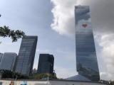 南山汉京国际附近广告公司LOGO墙丨前台墙丨前台字背景墙制作