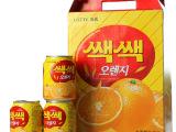韩国进口饮料乐天桔子果汁 橙汁一箱12瓶 6小箱一箱夏日一凉 批