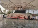 天津展位背景板搭建舞台灯光音响大屏电视启动球租赁礼仪庆典主持
