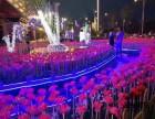 西宁唯美灯光展展览展会 灯光节灯光秀爱心长廊花海等造型定制