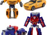 动漫玩具擎天柱大黄蜂变形超变金刚玩具两款混装男孩变形模型玩具