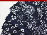 活性印染蓝印花布仿蜡染布料床单桌布茶馆沙发面料加厚款