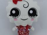 卡通情侣公仔 日本和服玩具 企业形象公仔 毛绒娃娃玩具厂家订制