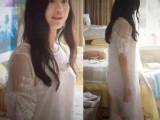 栀子花开张慧雯明星同款夏新款宽松白色蕾丝连衣长裙送吊带