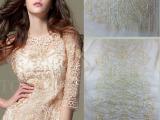 2014年新款 服装绣花面料加工  人丝线网布平绣面料 衣片绣花