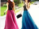 特价 清货 亮丝的锦丝绉半身裙 大摆裙波西米亚裙长裙女