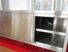 拉门工作台不锈钢操作台饭店打荷台厨房储物柜商用奶茶水吧台定做