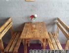 厂家直销:醉鹅餐厅桌椅,各类碳化木,火烧木餐桌椅