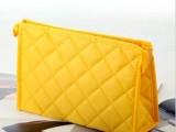 定做各种款可印制logo绣格中号长方型手提拉链糖果色广告化妆包