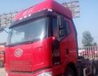 解放j6二手拖头车轻型390马力13米高低板花篮半挂货车