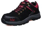 厂家直销 男士工作鞋钢包超纤皮防砸防刺户外运动安全鞋劳保鞋