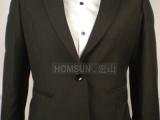 女式一粒扣黑色西装 定做工作服酒店男女西服 文员服 宾馆商务装