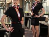 厂家供应职业装套装夏装短袖空姐服制服职业套裙两件套领班文员装
