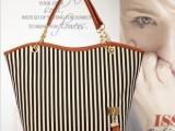 秋季韩版新款女包链条帆布条纹单肩潮包出口大包厂家包包批发