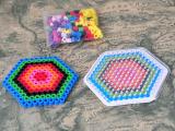 彩色六边形 DIY手工拼豆材料包 稳定货