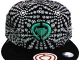 供应欧美流行印花绣花平沿嘻哈帽子