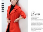 2014春秋新品韩版新款风衣 修身长款时尚风衣女装外套 实拍