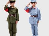 男女款儿童红卫兵服装舞蹈服 小红军表演服军装解放军演出服 八路
