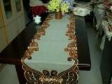 厂家直销 多种绣花桌布 外贸镂空茶几布