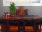 潮州市老船木家具茶桌椅子沙发茶台茶几办公桌餐桌鱼缸置物架案台