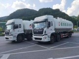 西安东风天龙散装饲料运输车销售 半挂饲料车价格