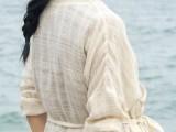 素色麻棉布料 蕾丝麻料 麻纱提花微透款 进口水洗面料超值推荐