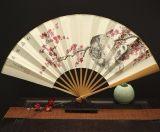精品纸扇玉竹折扇手绘竹子图
