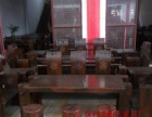 图木舒克市老船木家具茶桌办公桌餐桌椅子实木沙发茶几茶台鱼缸柜