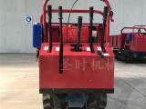 圣时小型手扶式履带运输车多少钱 山地果园农用翻斗车价格