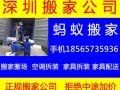 专业深圳搬家公司 深圳蚂蚁搬家专业搬厂 搬公司空调安装等