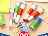 儿童易拉罐圆珠笔C025韩国创意文具 可爱伸缩饮料笔圆珠笔、中油