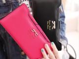 2014新款韩版可爱甜美蝴蝶结插卡式女士长款钱包皮夹工厂价格批发