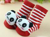 儿童袜 宝宝纯棉短袜 防滑点胶袜 立体卡通袜动物公仔外贸地板袜