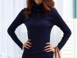 2013新款韩版女装高领针织衫修身毛衣线