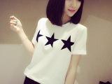 2014夏季新款韩版女装9130全棉舒服星星随性百搭好短袖T