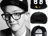 热销EXO同款刺绣数字88字母帽男女士潮嘻哈帽平沿帽街舞棒球帽子