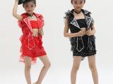 童装爵士舞女童六一舞蹈服装少儿现代舞表演服儿童演出女款套装