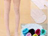 夏季透明包芯丝儿童连裤袜 糖果色女童童装袜打底丝袜一件代发